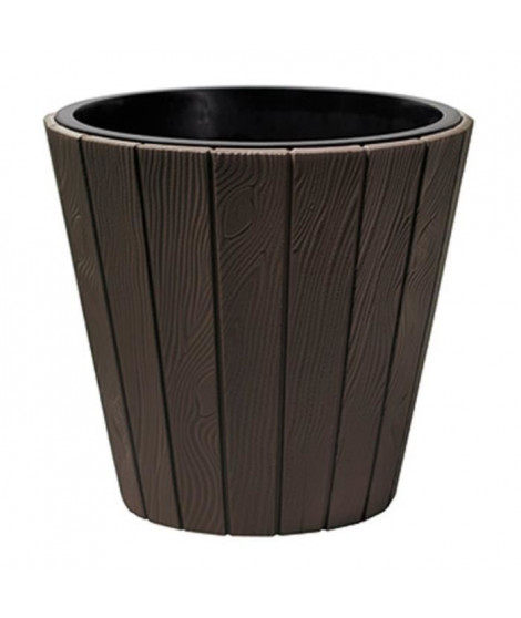 PROSPERPLAST Pot rond Woode - Ø 488 mm - Marron brun