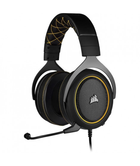 CORSAIR Casque Gamer HS60 PRO SURROUND - Filaire - Jaune (CA-9011214-EU)