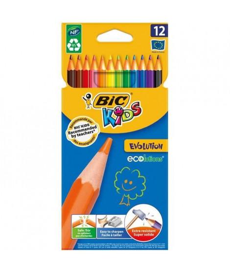 BIC Kids - Crayons de couleur BIC Kids Evolution x12