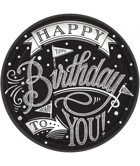 AMSCAN Lot de 18 Assiettes carton Hooray It's Your Birthday 26,6 cm
