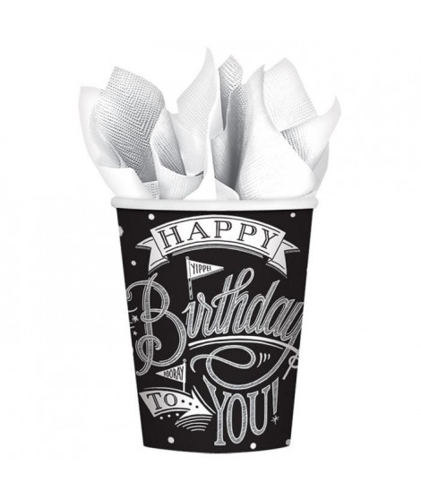 AMSCAN Lot de 18 Gobelets carton Hooray It's Your Birthday 266 ml