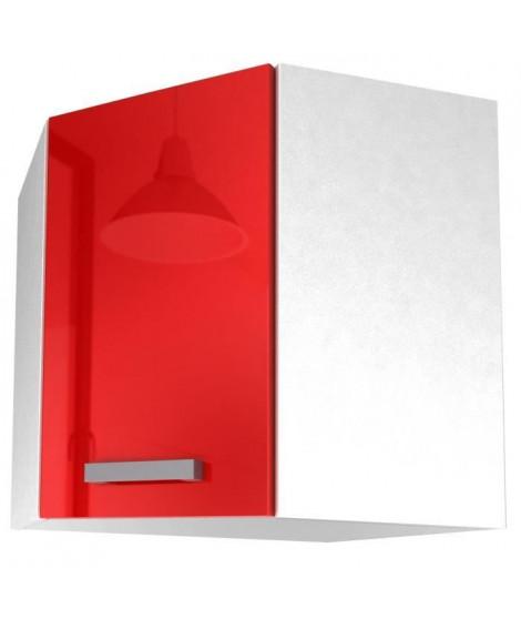 START Meuble de cuisine haut d'angle L 58 cm - Rouge brillant