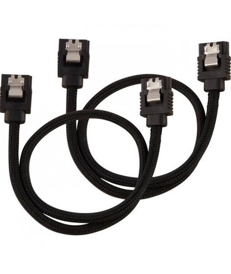CORSAIR Câble gainé Premium  SATA 6Gbps Noir 30cm Droit - (CC-8900248)