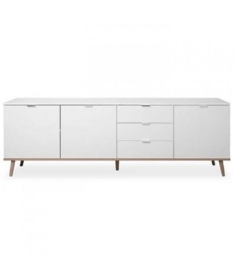 GOTEBORG Bahut - Style scandinave - Décor chene et blanc - L 200 cm
