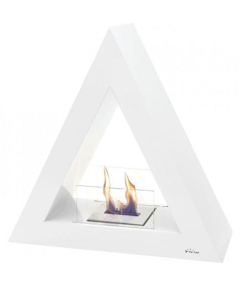 PURLINE TALIA B Cheminée de sol bio-éthanol de forme pyramidale - Blanc