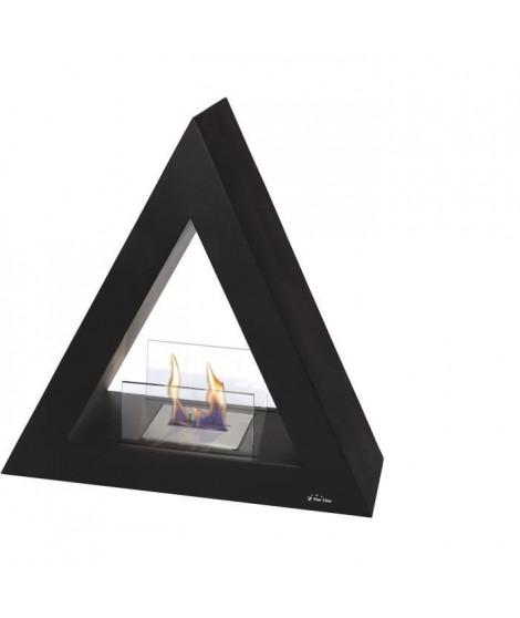 PURLINE TALIA B Cheminée de sol bio-éthanol de forme pyramidale - Noir