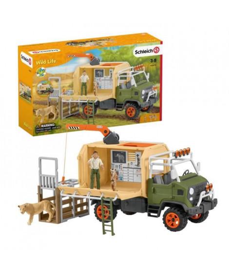 SCHLEICH - Figurine Camion pour sauvetage d'animaux