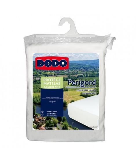 DODO Protege-matelas molleton absorbant Perigord - 230 g/m² - 140 x 190 cm - Blanc