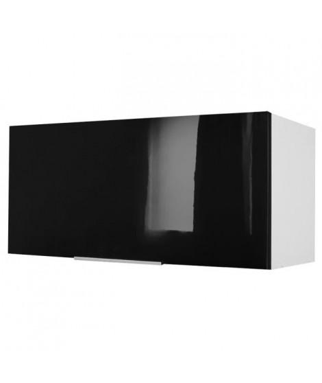 POP Meuble hotte L 80 cm - Noir brillant