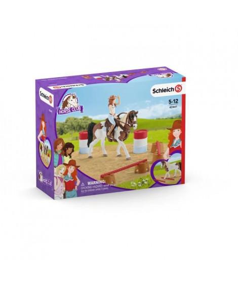 SCHLEICH - Figurine  Kit d'équitation western d'Horse Club Hannah