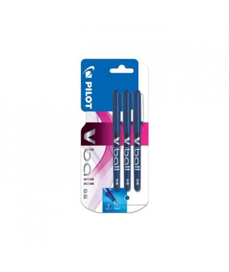 PILOT - Rollers encre liquide V-BALL 05 X3 - Pointe Fine - Encre bleue