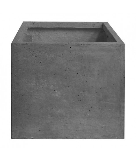 Pot cubique lisse - 40 x 40 x 40 cm - Gris anthracite