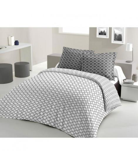 LOVELY HOME Parure de couette Coton ELLY - Blanc - 220x240 cm