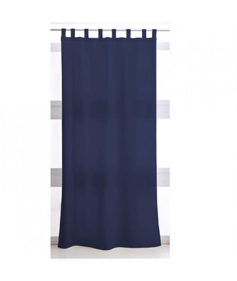 Rideau a Pattes 140X260 uni bleu