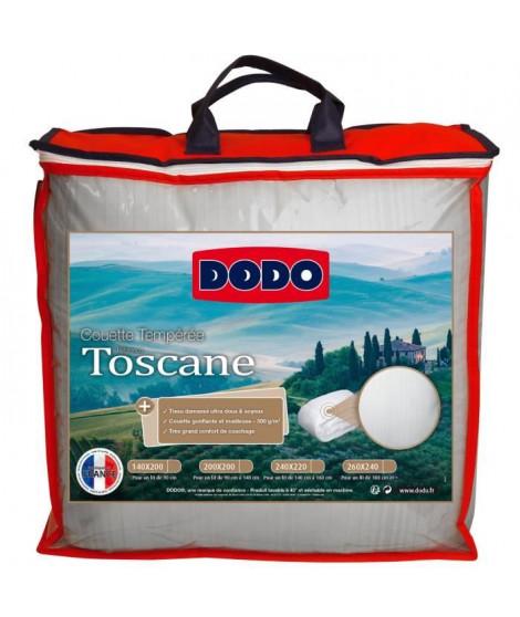 DODO Couette tempérée Toscane - 300 g/m² - 220 x 240 cm - Blanc