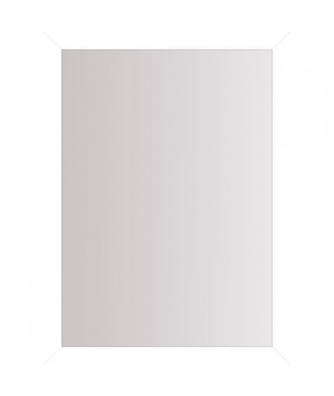 BASIC Miroir rectangulaire 50x70 cm Blanc