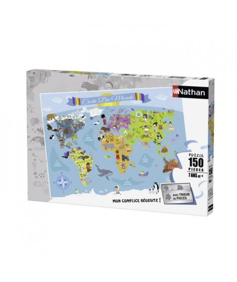 Puzzle 150 pcs Carte Du Monde