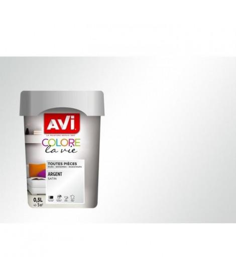 AVI Peinture murale toutes pieces - Argent Métal, 0,5L