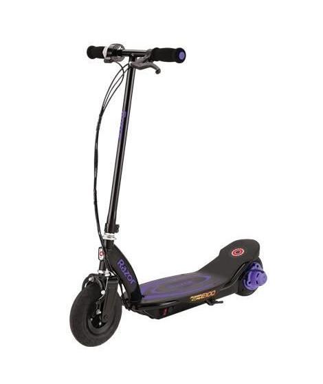 RAZOR Trottinette enfant Electrique E100 Power Core - Violet - jusqu'a 18 kms/heure