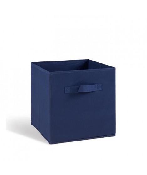 COMPO Tiroir de rangement - Tissu - 27x27x28 cm - Bleu foncé