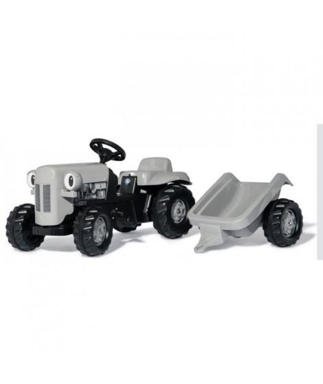 ROLLY TOYS RollyKid Tracteur a pédales gris Little Grey Fergie et sa remorque
