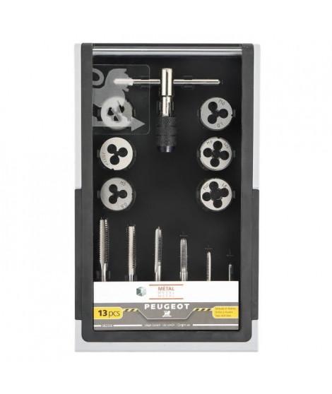 PEUGEOT Coffret de 13 pieces tarauds et filieres + clé - 13 pieces - Usage courant