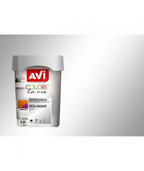 AVI Peinture murale toutes pieces - Métal Argenté Métal, 0,5L