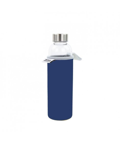 YOKO DESIGN Glass bottle avec pochette néoprene - Bleu - 500 ml