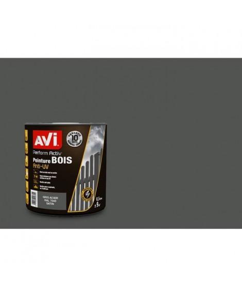 AVI Peinture pour bois - Gris acier satin - 0,5 L