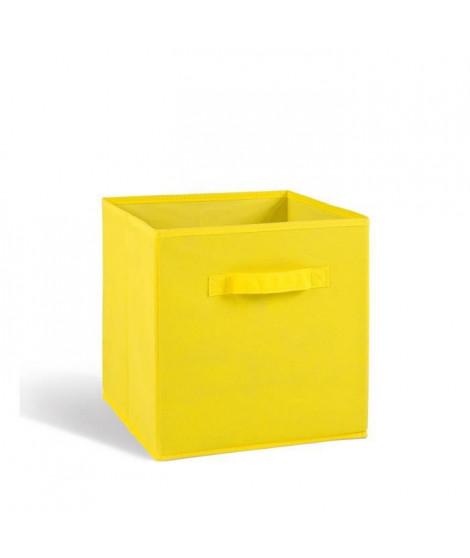 COMPO Tiroir de rangement - Tissu - 27x27x28 cm - Jaune