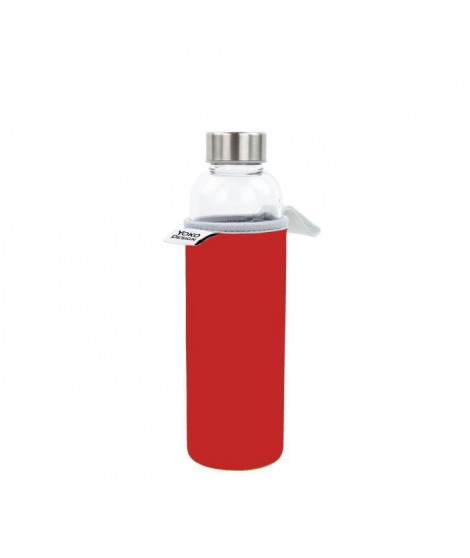 YOKO DESIGN Glass bottle avec pochette néoprene - Rouge - 500 ml