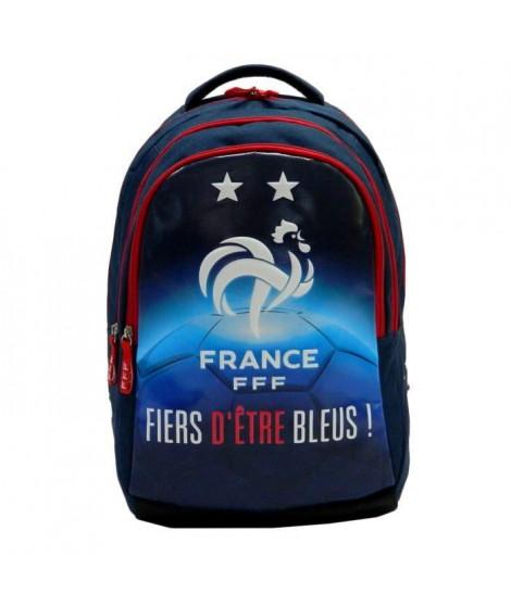 FEDERATION FRANCAISE DE FOOTBALL Sac a dos - Deux compartiments - 45 cm - Bleu