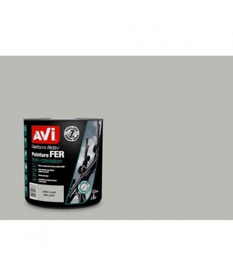 AVI Peinture pour fer - Gris clair brillant - 0,5 L