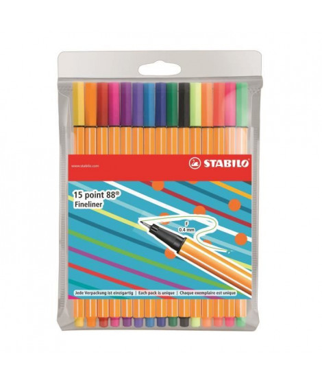STABILO 15 stylos-feutres Individual just like you - Point 88