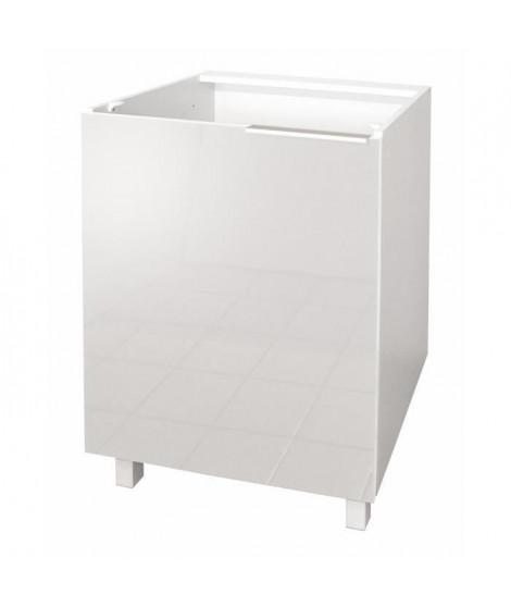 POP Meuble bas de cuisine L 60 cm - Blanc brillant