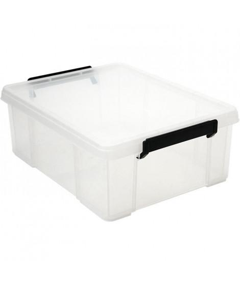 IRIS OHYAMA Boîte de rangement empilable avec couvercle - Multi Box - MBX-18 - Plastique - Transparent - 18 L