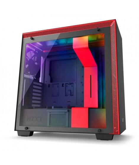 NZXT Boitier PC Moyen Tour H700i Rouge/Noir - Fenetre