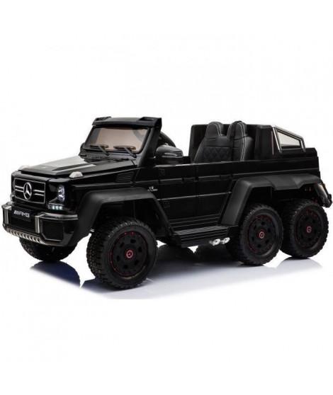EROAD - Mercedes G63 AMG 6X6 Noir 2 places - 12V - Roues gomme - MP3