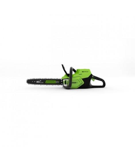 GREENWORKS Tronçonneuse électrique GD60CS40K2 - 60 V - 40 cm - 1 batterie + 1 chargeur - Vert