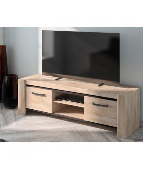 EMBRUN Banc TV - L 160 x P 49 x H 160 cm
