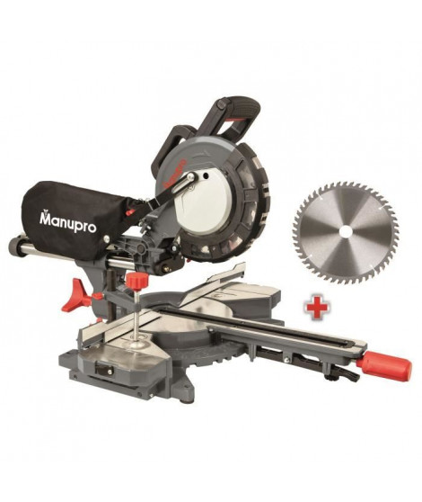 MANUPRO Scie a onglet radiale 2 lames multi usage 216 mm 2000W