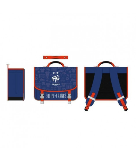 FEDERATION FRANCAISE DE FOOTBALL Cartable - Deux compartiments - 41 cm - Bleu
