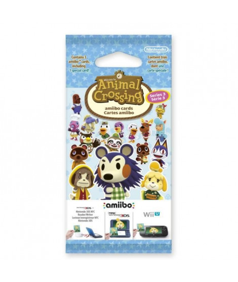 Paquet de 3 cartes Animal Crossing Série 3