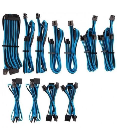 CORSAIR Kit pro de câbles pour alimentation type 4 Gen 4 Premium – Bleu/Noir (CP-8920228)
