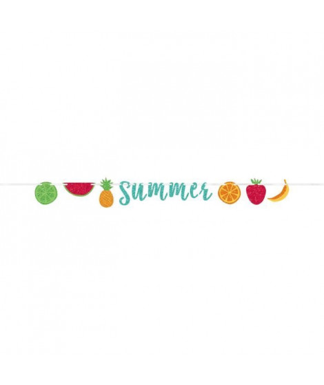 AMSCAN Guirlande Hello Summer Lettres pailletées