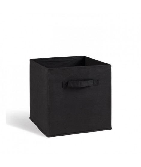 COMPO Tiroir de rangement - Tissu - 27x27x28 cm - Noir