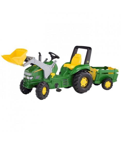 ROLLY TOYS X Tracteur a pédales John Deere+ Pelle avant + Remorque Farm Trailer