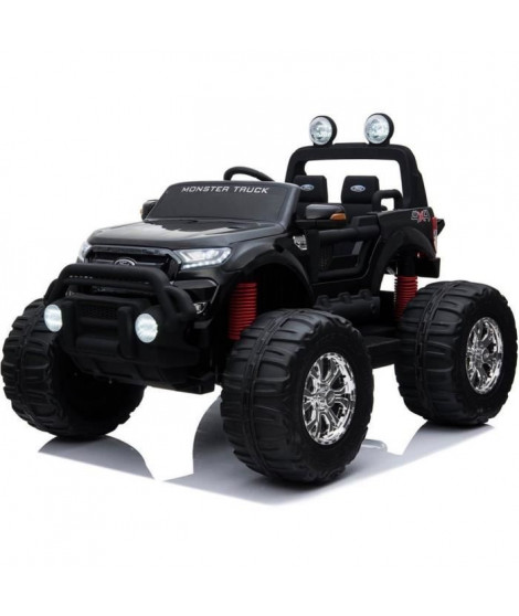 EROAD - Ford Ranger Monster Truck 2 places 4X4 Noir - 2 places - 12V - Roues gomme - MP3 - Radio FM - Bluetooth