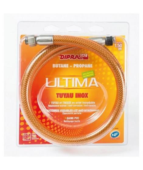 DIPRA Flexible inox vitagaz butane/propane NF 1.5m - écrous 20/150 - Durée illimitée