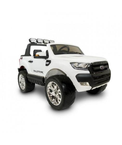 EROAD - Ford Ranger Blanc 4X2 Noir 2 places - 12V - Roues gomme - MP3